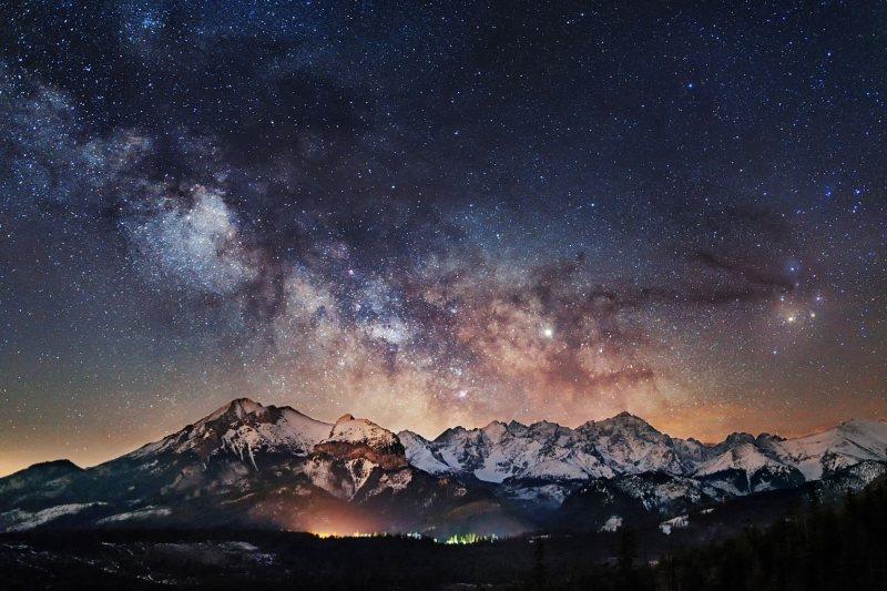 Droga Mleczna nad Tatrami - Piotr Kałuża