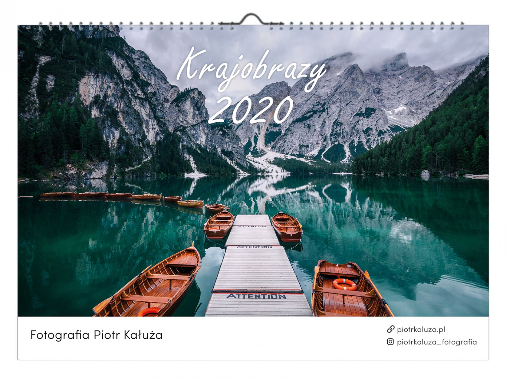 Kalendarz krajobrazy 2020 - Piotr Kałuża